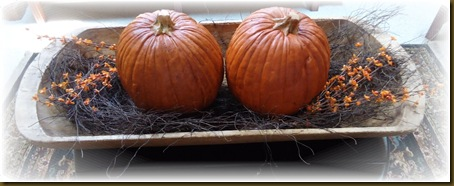Trencher with pumpkins 1